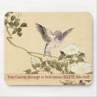 Matsumoto Keibun Bird and Flower Album Zebra Finch Mouse Pad