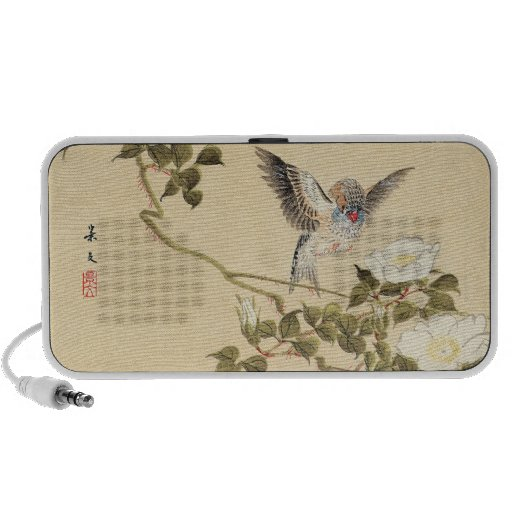 Matsumoto Keibun Bird and Flower Album Zebra Finch Notebook Speaker