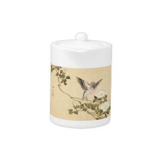Matsumoto Keibun Bird and Flower Album Zebra Finch Teapot
