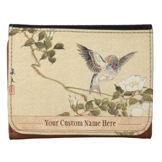 Matsumoto Keibun Bird and Flower Album Zebra Finch Tri-fold Wallet