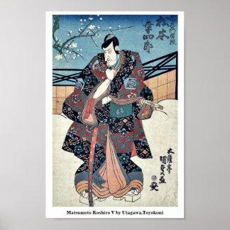 Matsumoto Koshiro V by Utagawa,Toyokuni Poster
