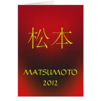 Matsumoto Monogram Birthday Card