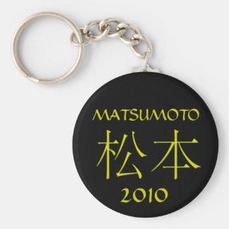 Matsumoto Monogram Basic Round Button Keychain