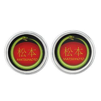 Matsumoto Monogram Snake Cufflinks