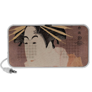 Matsumoto Yonesaburo in the role of the courtesan iPod Speakers
