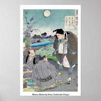 Matsuo Basho por Taiso, Yoshitoshi Ukiyoe Póster
