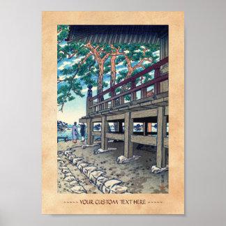 Matsushima Godaido Pagoda Shiro Kasamatsu japan Print