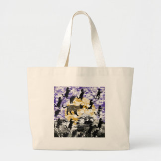 Matsuyama castle and flower and cat bag
