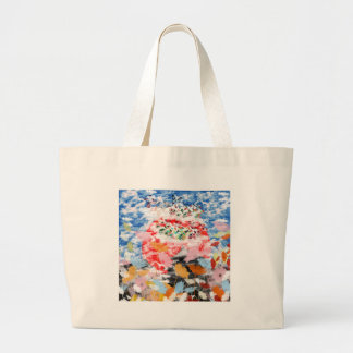 Matsuyama castle and flower and invitation cat tote bags