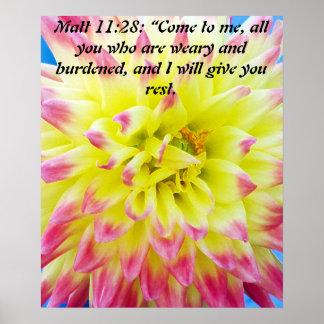 Matt 11:28 poster