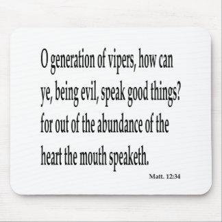 Matt. 12:34, w alfombrillas de raton