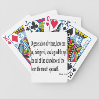 Matt. 12:34,w bicycle playing cards