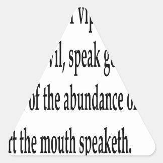 Matt. 12:34,w triangle sticker