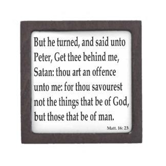 Matt. 16:23 keepsake box