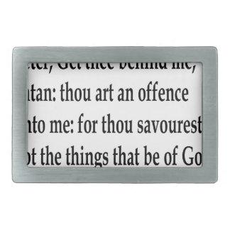 Matt. 16:23 rectangular belt buckle