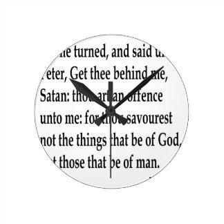 Matt. 16:23 round clock