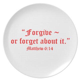 Matt 6:14 dinner plate