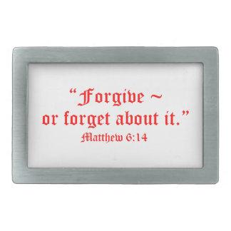 Matt 6:14 rectangular belt buckle