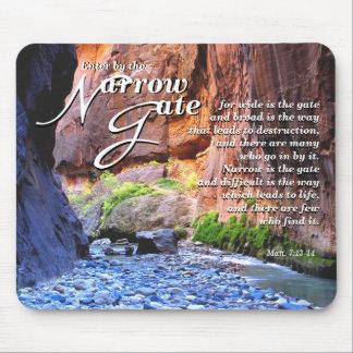 Matt.7: 13-14 cojín de ratón estrecho de la puerta mousepad
