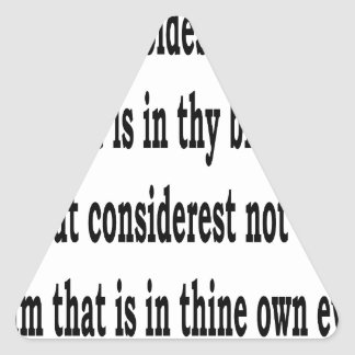 Matt. 7:3,w triangle sticker