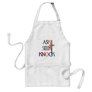 Matt 7:7 customizable christian gift adult apron