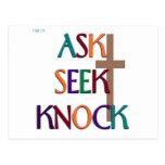 Matt 7:7 customizable christian gift post cards
