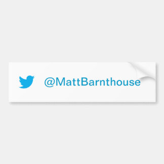 Matt Barnthouse Twitter Bumper Sticker Car Bumper Sticker