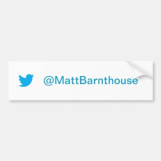 Matt Barnthouse Twitter Bumper Sticker Car Bumper Sticker