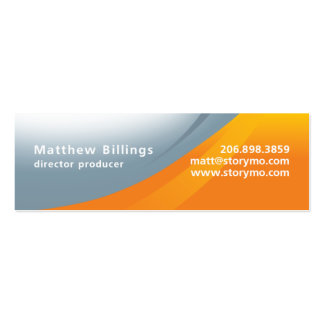 Matt Billings Skinny Double-Sided Mini Business Cards (Pack Of 20)