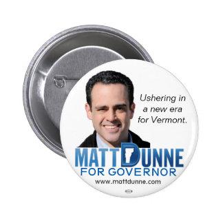 Matt Dunne Vermont Governor 2016 political button