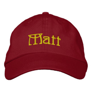 MATT Given Name Designer Cap