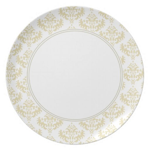 Matt Gold damask plate