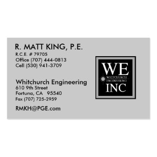 Matt King Double-Sided Standard Business Cards (Pack Of 100)