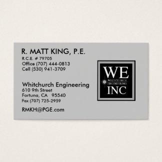 Matt King Business Card
