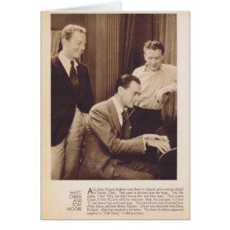 Matt, Owen and Tom Moore vintage portrait card