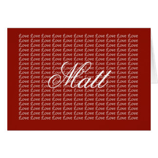 Matt Red Endless Love Card