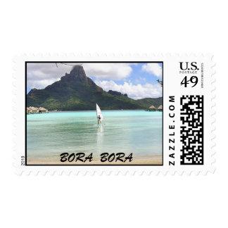 Matt windsurfing., BORA  BORA Postage Stamp