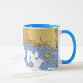 Mattapoisett MA. Harbor Nautical Chart Mug