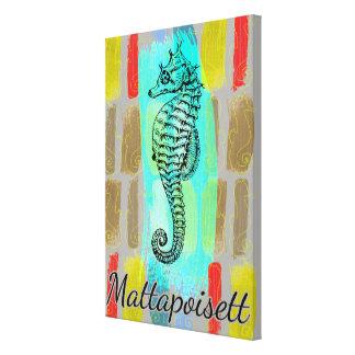 Mattapoisett Seahorse Canvas