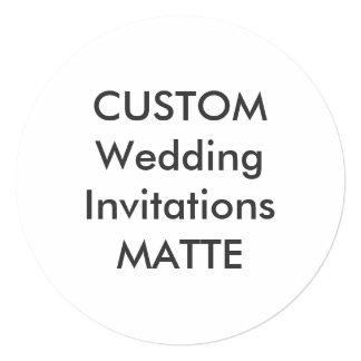 "MATTE 120lb 5.25"" Round Wedding Invitations"