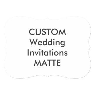 "MATTE 120lb 7"" x 5"" Bracket Wedding Invitations"