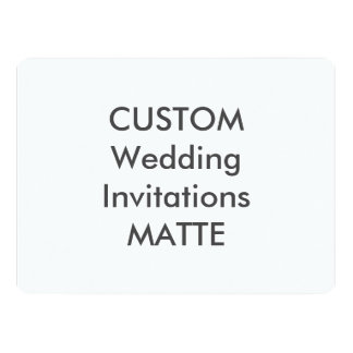 "MATTE 120lb 8.75"" x 6.5"" Wedding Invitations"