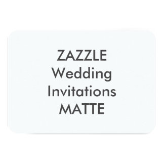 "MATTE 5"" x 3.5"" Wedding Invitations"