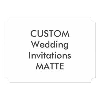 "MATTE 7"" x 5"" Ticket Wedding Invitations"