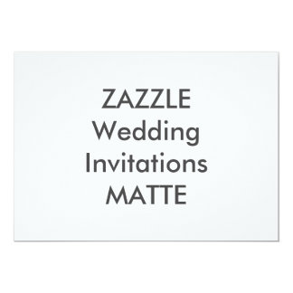 "MATTE 7"" x 5"" Wedding Invitations"