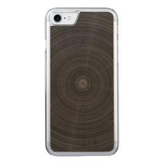 Matte Black Circle Steel Shatter Carved iPhone 8/7 Case
