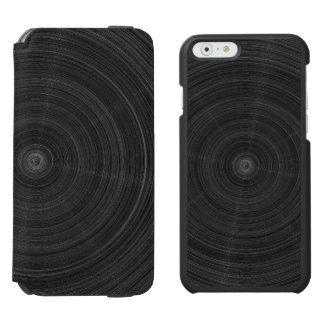 Matte Black Circle Steel Shatter iPhone 6/6s Wallet Case
