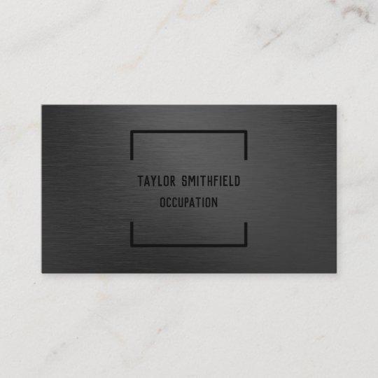 Matte black professional geometric business card zazzle matte black professional geometric business card colourmoves