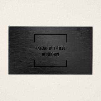 matte black professional geometric business card