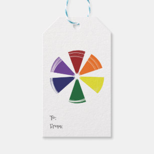 Color Wheel Gift Tags Gift Enclosures Zazzle